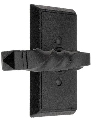 Wrought Steel Providence Door Set With San Carlos Levers Left Hand Double Dummy Matte Black. Door Hardware. front-1046662