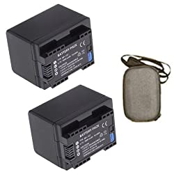 ValuePack (2 Count): Extended Life Replacement Battery for Specific Digital Camera and Camcorder Models / Compatible with Canon BP-727 BP727 BP709 BP-709 BP-718 BP718 Vixia HF M50 Vixia HF M52 Vixia HF M56 Vixia HF M500 Vixia HF M506 LEGRIA HF R30 LEGRIA HF R32 LEGRIA HF R36 LEGRIA HF R37 LEGRIA HF R38 LEGRIA HF R300 - Includes Hard Case Camera Bag