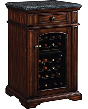Amalfi Madison Wine Cabinet Cooler Refrigerator in Rose Cherry
