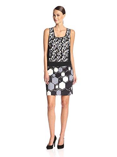Vivienne Tam Women's Mixed Print Dress