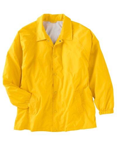 Harriton Men's Raglan Sleeves Nylon Staff Jacket