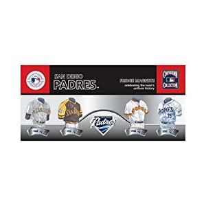 MLB San Diego Padres 4-Pack Uniform Magnet Set by ASC