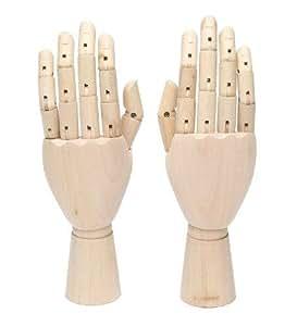 ArtStyle モデルハンド 両手 デッサン スケッチ 美術 アート マネキン トルソー 手 左右セット (女性25cm)
