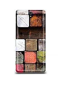Colored Bricks Sony C5 Case