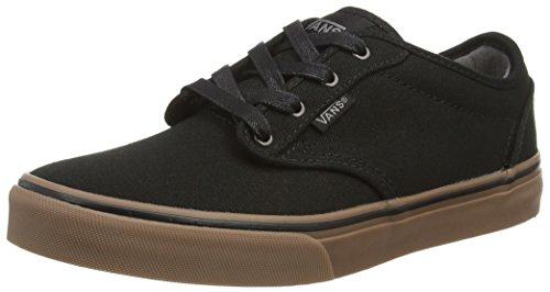 Vans Kids Atwood ( 10 oz Canvas) Black/Gum Skate Shoe 3.5 Kids US (Kids Vans Shoes compare prices)