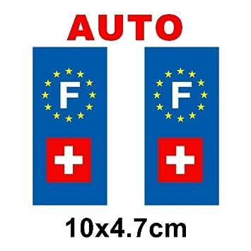 autocollant plaque immatriculation drapeau suisse suisse auto cuisine maison m11. Black Bedroom Furniture Sets. Home Design Ideas