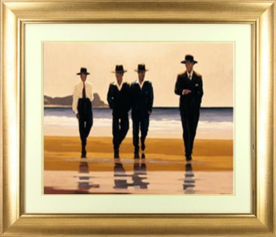 'The Billy Boys' by Jack Vettriano - High Quality Framed Print (frame size 66 cm W x 57 cm H)