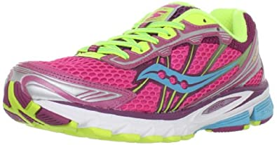 Saucony Women's Progrid Ride 5 Running Shoe,Vizipro Pink/Blue/Yellow,6.5 M US