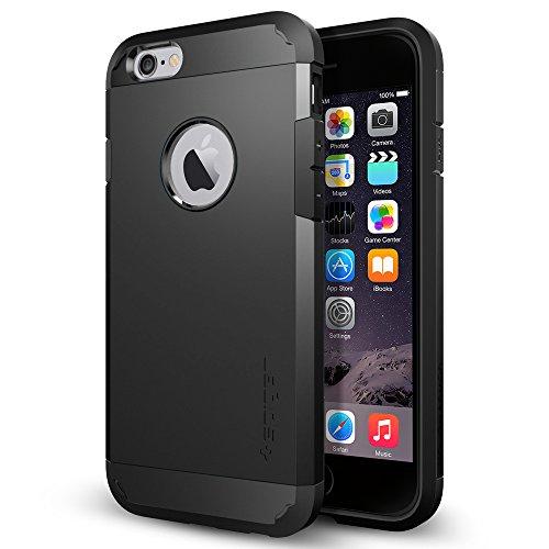 iPhone 6 ケース Spigen [エアクッションテクノロジー] Apple iPhone 4.7 (2014) タフ・アーマー (国内正規品) (スムース・ブラック SGP10968)