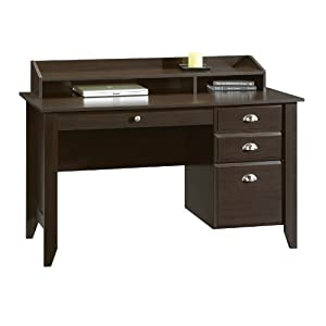 Amazon.com - Sauder Shoal Creek Desk, Jamocha Wood - Home Office Desks