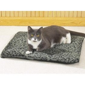 Slumber Pet Thermal Cat Mat (Grey w/Black Designs) 22