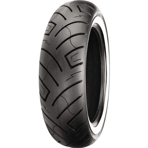 Shinko 777 Series Tire - Rear - 150/80-16 - White Wall , Position: Rear, Tire Size: 150/80-16, Rim Size: 16, Tire Ply: 4, Load Rating: 71, Speed Rating: H, Tire Type: Street, Tire Application: Cruiser XF87-4189