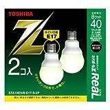 東芝 電球形蛍光ランプ A10形・口金E17・昼白色【2個入】TOSHIBA ネオボールZミニクリプトン電球40WタイプA形 EFA10EN/8-E17-S-2P