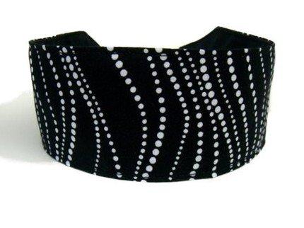 Bargain Headbands, White Dotted Swirls Over Black Elegant Formal Wear, Beautiful Headband