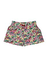 Poppers by Pantaloons Girl's Cotton Shorts (205000005662096, Green, 15-16 Years)