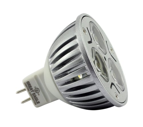 Great Eagle® Led Mr16 Gu5.3 12V Idealk Color Bulb. 50W Equivalent Ul Certified 3000K Dimmable Flood Light For Recessed And Track Lighting Fixtures - 5 Year Warranty Backed By Usa Seller. Idealk Color Can Be Used Anywhere Warm White Or Cool White Are Used.