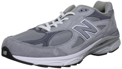 Balance - Mens 990v3 Stability Running Shoes, UK: 8 UK - Width 4E, Grey with White