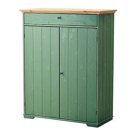 IKEA Hurdal - El gabinete de lino, verde - 109x50x137 cm
