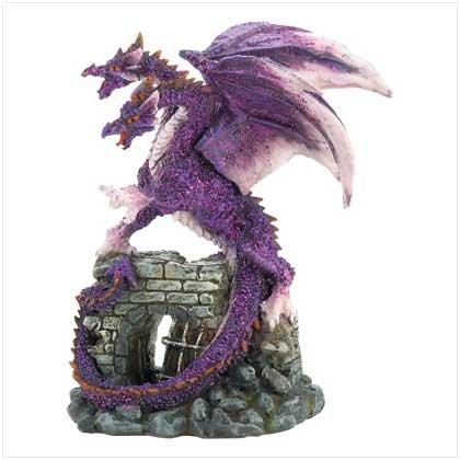 Amethyst Dragon Figurine - Style 39821