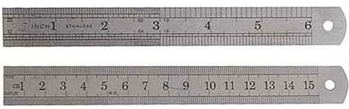 SE - Ruler - Steel, In Pouch, 6in., 2 Pc