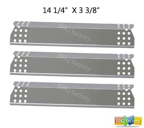 97371(3-Pack) Stainless Steel Heat Plate Replacement For Select Grill Master And Uberhaus Gas Grill Models