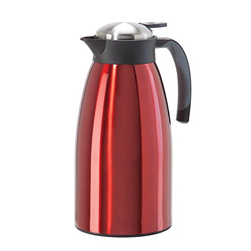 Oggi 68 oz Versa Stainless Thermal Vacuum Hot or Cold Carafe with Press Button Top, Red (Thermal Carafe Red compare prices)