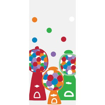 The Gift Wrap Company 8 Count Cello Treat Bags, Gum Ball Games front-561248