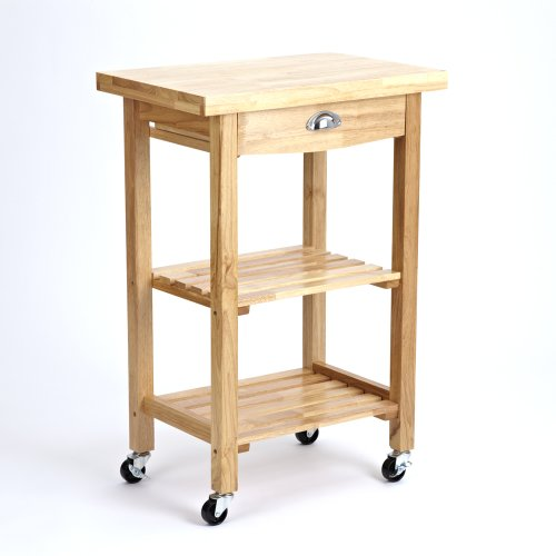 'SULGRAVE' COMPACT SOLID RUBBERWOOD KITCHEN OR B.B.Q. TROLLEY
