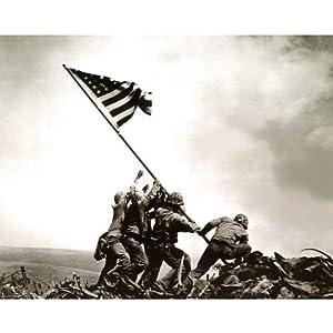 Iwo Jima (Raising American Flag) Art Poster Print