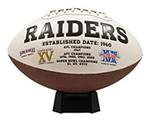 NFL Oakland Raiders Signature Series Team Full Size Footballs