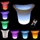 Rechargeable LED Color Changing Ice Bucket - with Timer and Remote