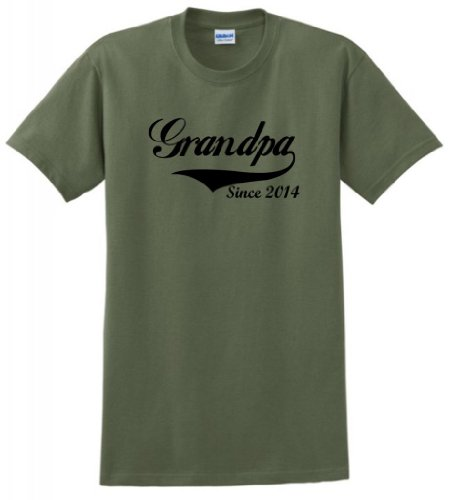 Grandpa Since 2014 T-Shirt 2Xl Military Green front-886068