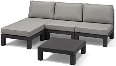 Allibert Lounge Set Nevada, Grau, 5-teilig