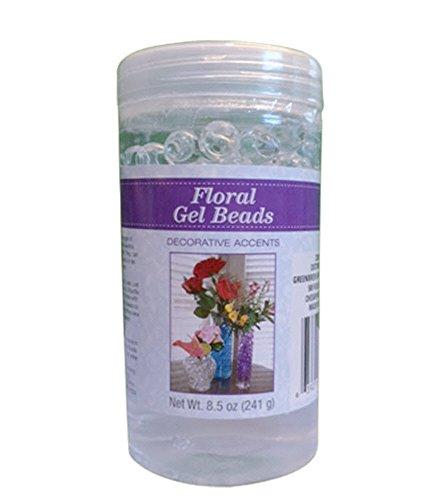 Clear Floral Hydrated Gel Beads 8.5 Oz Jar Vase Filler Ready To Use Transparent Crystal Florist Arrangements