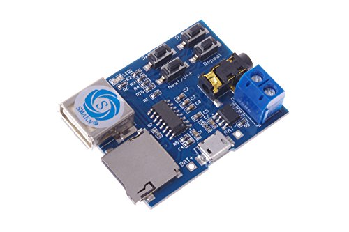 SMAKN® Mp3 Lossless Decoders Decoding Power Amplifier Mp3 Player Audio Module Mp3 Decoder Board support TF Card USB (Mp3 Audio Module compare prices)