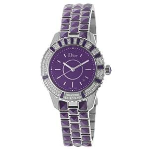 Christian Dior Women's CD11311JM001 Christal Purple Dial Diamond Watch