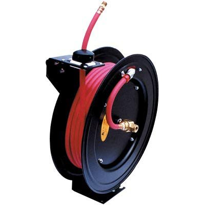 ReelWorks Air Hose Reel With Hose - 3 8in x 50ft Hose Max 300 PSIB0000AXC7C