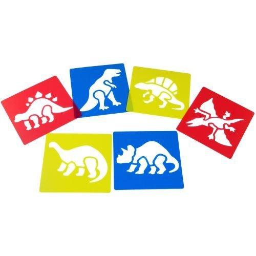"Pochoirs ""Dinosaures"" - Pack de 6"