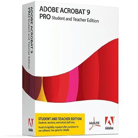 Adobe Acrobat Pro 9 Student & Teacher Edition [Old Version]