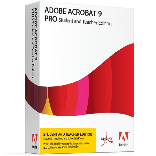 Adobe Acrobat Pro 9 Student & Teacher Edition [Mac]