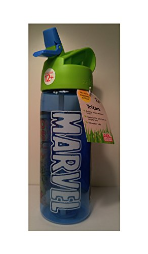 Marvel Water Bottle- Retro Comic Book style- Spiderman- Hulk- Iron Fist- 25 oz. BPA free- Great Stocking Stuffer- Chrismas Gift- Holiday Present
