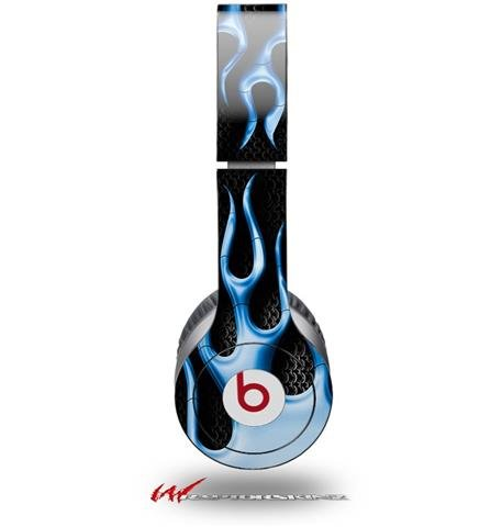 Metal Flames Blue Decal Style Skin (Fits Genuine Beats Solo Hd Headphones - Headphones Not Included)
