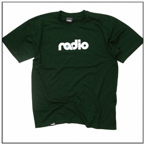 Radio ORIGINAL LOGO TEE Men T-Shirt, dark green, S