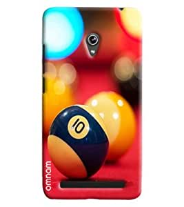 Omnam Snooker Balls Closeup Printed Designer Back Cover Case For Asus Zenfone 6