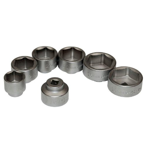Great Neck OEM 27197 3/8-Inch Drive Oil Filter Removal Socket Set, 7-Piece