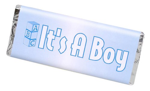 Darice It's a Boy Candy Bar Wrapper, 24-Piece
