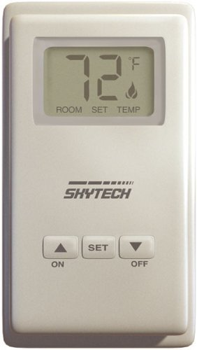 Skytech 9800333 Ts-3 Wired Wall Mounted Fireplace Thermostat Control