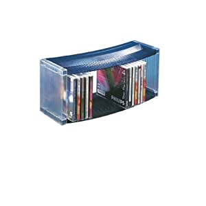 leitz 67006 cd st nder f r 27 cds kunststoff transparent blau b robedarf. Black Bedroom Furniture Sets. Home Design Ideas