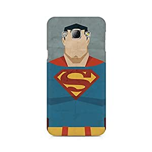 High Quality Printed Cover Case for Samsung A3 Model - Superman Minimalist