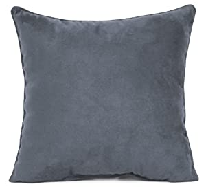 Blue Microsuede Throw Pillows : Amazon.com - Faux Suede Decorative Pillow SLATE BLUE 18